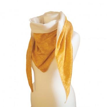 écharpe jaune Miel imprimée en france