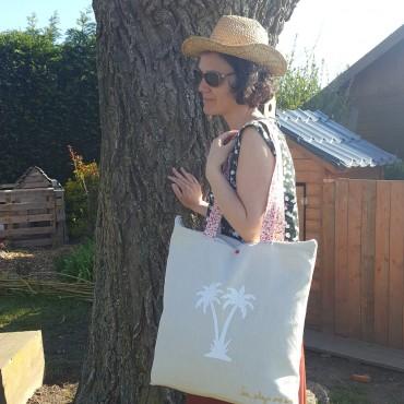 sac de plage lin bio