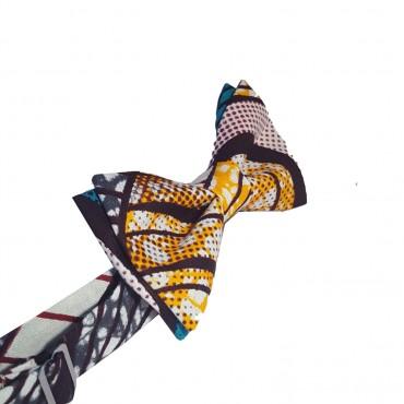 noued papillon bleu , turquoise et jaune