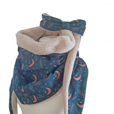 écharpe et bandeau hiver doublé en polaire teddy