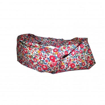 Headband tissu liberty betsy Ann rouge