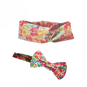 coffret nœud papillon headband assorti