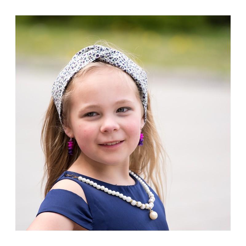 headband coton fleuri enfant