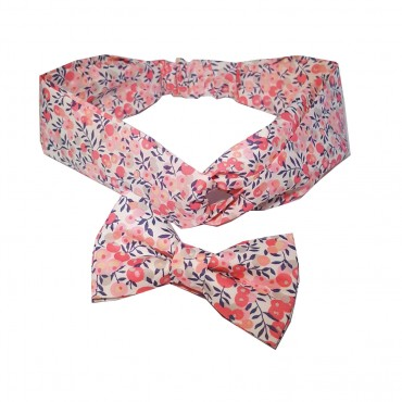 noeud papillon et headband liberty