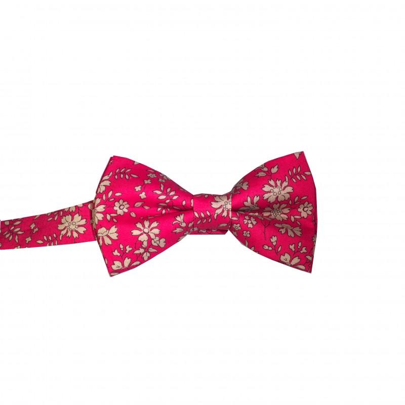 noeud papillon tissu liberty rouge